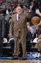 Nov 30, 2013; Dallas, TX, USA; Minnesota Timberwolves head coach Rick Adelman argues a call during the game against the Dallas Mavericks at the American Airlines Center. The Timberwolves defeated the Mavericks 112-106. Mandatory Credit: Jerome Miron-USA TODAY Sports