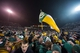 Dec 7, 2013; Waco, TX, USA; The Baylor Bears and their fans and students celebrate the win over the Texas Longhorns at Floyd Casey Stadium. The Baylor Bears defeated the Texas Longhorns 30-10 to win the Big 12 championship. Mandatory Credit: Jerome Miron-USA TODAY Sports