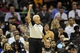 Dec 10, 2013; Cleveland, OH, USA; NBA referee Dick Bavetta calls a foul during a game between the Cleveland Cavaliers and the New York Knicks at Quicken Loans Arena. Mandatory Credit: David Richard-USA TODAY Sports
