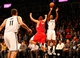 Dec 12, 2013; Brooklyn, NY, USA;  Brooklyn Nets shooting guard Joe Johnson (7) shoots over Los Angeles Clippers small forward Jared Dudley (9) during the third quarter at Barclays Center. Brooklyn Nets won 102-93.  Mandatory Credit: Anthony Gruppuso-USA TODAY Sports