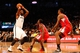 Dec 12, 2013; Brooklyn, NY, USA;  Brooklyn Nets center Andray Blatche (0) looks to pass during the fourth quarter against the Los Angeles Clippers at Barclays Center. Brooklyn Nets won 102-93.  Mandatory Credit: Anthony Gruppuso-USA TODAY Sports