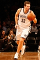 Dec 12, 2013; Brooklyn, NY, USA;  Brooklyn Nets power forward Mirza Teletovic (33) drives the ball during the fourth quarter against the Los Angeles Clippers at Barclays Center. Brooklyn Nets won 102-93.  Mandatory Credit: Anthony Gruppuso-USA TODAY Sports