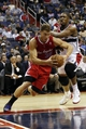 Dec 14, 2013; Washington, DC, USA; Los Angeles Clippers power forward Blake Griffin (32) dribbles the ball past Washington Wizards center Kevin Seraphin (13) in the third quarter at Verizon Center. The Clippers won 113-97. Mandatory Credit: Geoff Burke-USA TODAY Sports