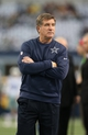 Dec 15, 2013; Arlington, TX, USA; Dallas Cowboys offensive coordinator  Bill Callahan prior to the game against the Green Bay Packers at AT&T Stadium. Mandatory Credit: Matthew Emmons-USA TODAY Sports
