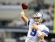 Dec 15, 2013; Arlington, TX, USA; Dallas Cowboys quarterback Tony Romo (9) throws prior to the game against the Green Bay Packers at AT&T Stadium. Mandatory Credit: Matthew Emmons-USA TODAY Sports