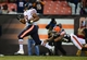 Dec 15, 2013; Cleveland, OH, USA; Chicago Bears running back Michael Bush (29) gets away from Cleveland Browns cornerback Leon McFadden (29) to score a touchdown during the fourth quarter at FirstEnergy Stadium. Mandatory Credit: Andrew Weber-USA TODAY Sports