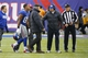 Dec 15, 2013; East Rutherford, NJ, USA;  New York Giants wide receiver Victor Cruz (80) leaves the game after an injury during the second half against the Seattle Seahawks at MetLife Stadium. Seattle Seahawks defeat the New York Giants 23-0. Mandatory Credit: Jim O'Connor-USA TODAY Sports