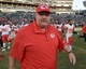 Dec 15, 2013; Oakland, CA, USA; Kansas City Chiefs coach Andy Reid reacts at the end of the game against the Oakland Raiders at O.co Coliseum. The Chiefs defeated the Raiders 56-31. Mandatory Credit: Kirby Lee-USA TODAY Sports