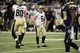 Dec 15, 2013; St. Louis, MO, USA; New Orleans Saints kicker Garrett Hartley (5) reacts after having a field goal attempt blocked by St. Louis Rams defensive tackle Michael Brockers (not pictured) during the first half at the Edward Jones Dome. The Rams defeated the Saints 27-16. Mandatory Credit: Jeff Curry-USA TODAY Sports