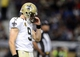 Dec 15, 2013; St. Louis, MO, USA; New Orleans Saints quarterback Drew Brees (9) looks on after throwing a incomplete pass during the second half against the St. Louis Rams at the Edward Jones Dome. The Rams defeated the Saints 27-16. Mandatory Credit: Jeff Curry-USA TODAY Sports