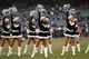 Dec 15, 2013; Oakland, CA, USA; Oakland Raiders cheerleaders perform during a timeout against the Kansas City Chiefs in the fourth quarter at O.co Coliseum. The Chiefs defeated the Raiders 56-31. Mandatory Credit: Cary Edmondson-USA TODAY Sports