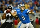 Dec 16, 2013; Detroit, MI, USA; Detroit Lions quarterback Matthew Stafford (9) throws a pass during the third quarter against the Baltimore Ravens at Ford Field. Mandatory Credit: Andrew Weber-USA TODAY Sports