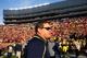 Nov 30, 2013; Ann Arbor, MI, USA; Michigan Wolverines head coach Brady Hoke after the game against the Ohio State Buckeyes at Michigan Stadium. Mandatory Credit: Rick Osentoski-USA TODAY Sports