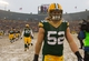 Dec 8, 2013; Green Bay, WI, USA; Green Bay Packers linebacker Clay Matthews (52) walks off the field following the game against the Atlanta Falcons at Lambeau Field.  Green Bay won 22-21.  Mandatory Credit: Jeff Hanisch-USA TODAY Sports
