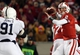 Nov 30, 2013; Madison, WI, USA; Wisconsin Badgers quarterback Joel Stave (2) attempts a pass as Penn State Nittany Lions tackle DaQuan Jones (91) defends at Camp Randall Stadium. Penn State defeated Wisconsin 31-24. Mandatory Credit: Mary Langenfeld-USA TODAY Sports