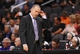 Nov 20, 2013; Phoenix, AZ, USA; Sacramento Kings head coach Michael Malone reacts on the sidelines against the Phoenix Suns at US Airways Center. The Kings defeated the Suns 113-106. Mandatory Credit: Jennifer Stewart-USA TODAY Sports