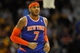 Dec 10, 2013; Cleveland, OH, USA; New York Knicks small forward Carmelo Anthony during a game against the Cleveland Cavaliers at Quicken Loans Arena. Cleveland won 109-94.Mandatory Credit: David Richard-USA TODAY Sports