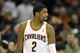 Dec 17, 2013; Cleveland, OH, USA; Cleveland Cavaliers point guard Kyrie Irving walks off the court after a 119-116 loss to the Portland Trail Blazers at Quicken Loans Arena. Mandatory Credit: David Richard-USA TODAY Sports