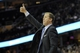 Dec 17, 2013; Cleveland, OH, USA; Portland Trail Blazers head coach Terry Stotts reacts in the fourth quarter against the Cleveland Cavaliers at Quicken Loans Arena. Mandatory Credit: David Richard-USA TODAY Sports