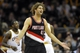 Dec 17, 2013; Cleveland, OH, USA; Portland Trail Blazers center Robin Lopez reacts in the fourth quarter against the Cleveland Cavaliers at Quicken Loans Arena. Mandatory Credit: David Richard-USA TODAY Sports