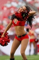 Dec 8, 2013; Tampa, FL, USA; Tampa Bay Buccaneers cheerleader against the Buffalo Bills during the second half at Raymond James Stadium. Tampa Bay Buccaneers defeated the Buffalo Bills 27-6. Mandatory Credit: Kim Klement-USA TODAY Sports