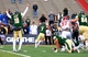 Dec 21, 2013; Albuquerque, NM, USA; Colorado State Rams quarterback Garrett Grayson (18) celebrates as running back Donnell Alexander (7) runs into the end zone to score a two point conversion to tie the game against the Washington State Cougars during the Gildan New Mexico Bowl at University Stadium. The Rams defeated the Cougars 48-45. Mandatory Credit: Mark J. Rebilas-USA TODAY Sports