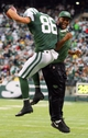 Dec 22, 2013; East Rutherford, NJ, USA; New York Jets wide receiver David Nelson (86) celebrates his touchdown during the first half of their game against the Cleveland Browns at MetLife Stadium. Mandatory Credit: Ed Mulholland-USA TODAY Sports