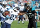 Dec 22, 2013; Jacksonville, FL, USA; Tennessee Titans running back Shonn Greene (23) runs the ball against Jacksonville Jaguars safety Josh Evans (26) during the second half at EverBank Field. Mandatory Credit: Melina Vastola-USA TODAY Sports