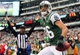 Dec 22, 2013; East Rutherford, NJ, USA; New York Jets wide receiver David Nelson (86) celebrates his touchdown catch during the second half of their game against the Cleveland Browns at MetLife Stadium.  The Jets defeated the Browns 24-13.  Mandatory Credit: Ed Mulholland-USA TODAY Sports