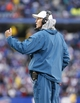 Dec 22, 2013; Orchard Park, NY, USA; Miami Dolphins head coach Joe Philbin signals to the referee during the second half against the Buffalo Bills at Ralph Wilson Stadium. Bills beat the Dolphins 19-0. Mandatory Credit: Kevin Hoffman-USA TODAY Sports