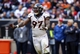 Dec 22, 2013; Houston, TX, USA; Denver Broncos defensive end Malik Jackson (97) reacts after a defensive play during the fourth quarter against the Houston Texans at Reliant Stadium. The Broncos defeated the Texans 37-13. Mandatory Credit: Troy Taormina-USA TODAY Sports