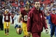 Dec 22, 2013; Landover, MD, USA; Washington Redskins offensive coordinator Kyle Shanahan walks off the field after the Redskins' game against the Dallas Cowboys at FedEx Field. The Cowboys won 24-23. Mandatory Credit: Geoff Burke-USA TODAY Sports