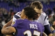 Dec 22, 2013; Baltimore, MD, USA; New England Patriots quarterback Tom Brady (12) greets Baltimore Ravens running back Ray Rice (27) after the game at M&T Bank Stadium. Mandatory Credit: Mitch Stringer-USA TODAY Sports