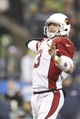 Dec 22, 2013; Seattle, WA, USA; Arizona Cardinals quarterback Carson Palmer (3) throws a touchdown pass against the Seattle Seahawks during the fourth quarter at CenturyLink Field. Mandatory Credit: Joe Nicholson-USA TODAY Sports