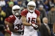Dec 22, 2013; Seattle, WA, USA; Arizona Cardinals wide receiver Michael Floyd (15) celebrates with Arizona Cardinals running back Stepfan Taylor (30) after his touchdown reception against the Seattle Seahawks during the fourth quarter at CenturyLink Field. Mandatory Credit: Joe Nicholson-USA TODAY Sports