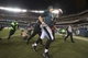 Dec 22, 2013; Philadelphia, PA, USA; Philadelphia Eagles quarterback Nick Foles (9) runs off the field after the game at Lincoln Financial Field. Philadelphia Eagles defeated the Chicago Bears 54-11. Mandatory Credit: Tommy Gilligan-USA TODAY Sports