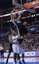Dec 16, 2013; Los Angeles, CA, USA; San Antonio Spurs guard Manu Ginobili (20) dunks the ball against the Los Angeles Clippers at Staples Center. The Clippers defeated the Spurs 115-92. Mandatory Credit: Kirby Lee-USA TODAY Sports