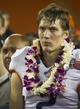 Dec 24, 2013; Honolulu, HI, USA; Boise State Broncos wide receiver Matt Miller (2) reacts on the field after the 2013 Hawaii Bowl against the Oregon State Beavers at Aloha Stadium. Miller won the MVP award for the Broncos.  Mandatory Credit: Marco Garcia-USA TODAY Sports