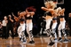 Dec 25, 2013; Brooklyn, NY, USA;  Brooklyn Nets cheerleaders perform during the fourth quarter against the Chicago Bulls at Barclays Center. Chicago Bulls won 95-78.  Mandatory Credit: Anthony Gruppuso-USA TODAY Sports