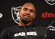 Dec 27, 2013; Alameda, CA, USA; Oakland Raiders safety Charles Woodson at a press conference at Oakland Raiders Practice Facility. Mandatory Credit: Kirby Lee-USA TODAY Sports