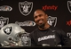 Dec 27, 2013; Alameda, CA, USA; Oakland Raiders safety Charles Woodson at press conference at Oakland Raiders Practice Facility. Mandatory Credit: Kirby Lee-USA TODAY Sports