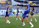 Dec 22, 2013; San Diego, CA, USA;  San Diego Chargers cheerleaders perform in Christmas costumes during the first half against the Oakland Raiders at Qualcomm Stadium. Mandatory Credit: Kirby Lee-USA TODAY Sports