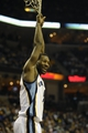 Dec 28, 2013; Memphis, TN, USA; Memphis Grizzlies shooting guard Tony Allen (9) during the third quarter against the Denver Nuggets at FedExForum. Mandatory Credit: Justin Ford-USA TODAY Sports