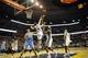 Dec 28, 2013; Memphis, TN, USA; Denver Nuggets small forward Wilson Chandler (21) lays the ball up over Memphis Grizzlies center Kosta Koufos (41) during the third quarter at FedExForum. Mandatory Credit: Justin Ford-USA TODAY Sports