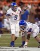 Dec 24, 2013; Honolulu, HI, USA; Boise State Broncos quarterback Grant Hedrick (9) calls an audible at the 2013 Hawaii Bowl against Oregon State Beavers at Aloha Stadium. Mandatory Credit: Marco Garcia-USA TODAY Sports