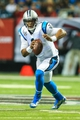 Dec 29, 2013; Atlanta, GA, USA; Carolina Panthers quarterback Cam Newton (1) runs the ball in the first half against the Carolina Panthers at the Georgia Dome. Mandatory Credit: Daniel Shirey-USA TODAY Sports