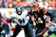 Dec 29, 2013; Cincinnati, OH, USA; Cincinnati Bengals quarterback Andy Dalton (14) runs with the ball during the third quarter against the Baltimore Ravens at Paul Brown Stadium. The Bengals won 34-17. Mandatory Credit: Andrew Weber-USA TODAY Sports