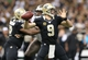 Dec 29, 2013; New Orleans, LA, USA; New Orleans Saints quarterback Drew Brees (9) passes the ball against the Tampa Bay Buccaneers in the second half at the Mercedes-Benz Superdome. New Orleans defeated Tampa Bay 42-17. Mandatory Credit: Crystal LoGiudice-USA TODAY Sports