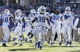 Dec 30, 2013; Fort Worth, TX, USA;  Middle Tennessee Blue Raiders linebacker T.T. Barber (38) celebrates recovering a fumble in the second quarter of the game against the Navy Midshipmen at Amon G. Carter Stadium. Mandatory Credit: Tim Heitman-USA TODAY Sports