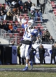 Dec 30, 2013; Fort Worth, TX, USA;  Middle Tennessee Blue Raiders quarterback Logan Kilgore (10) in the second quarter against the Navy Midshipmen at Amon G. Carter Stadium. Mandatory Credit: Tim Heitman-USA TODAY Sports